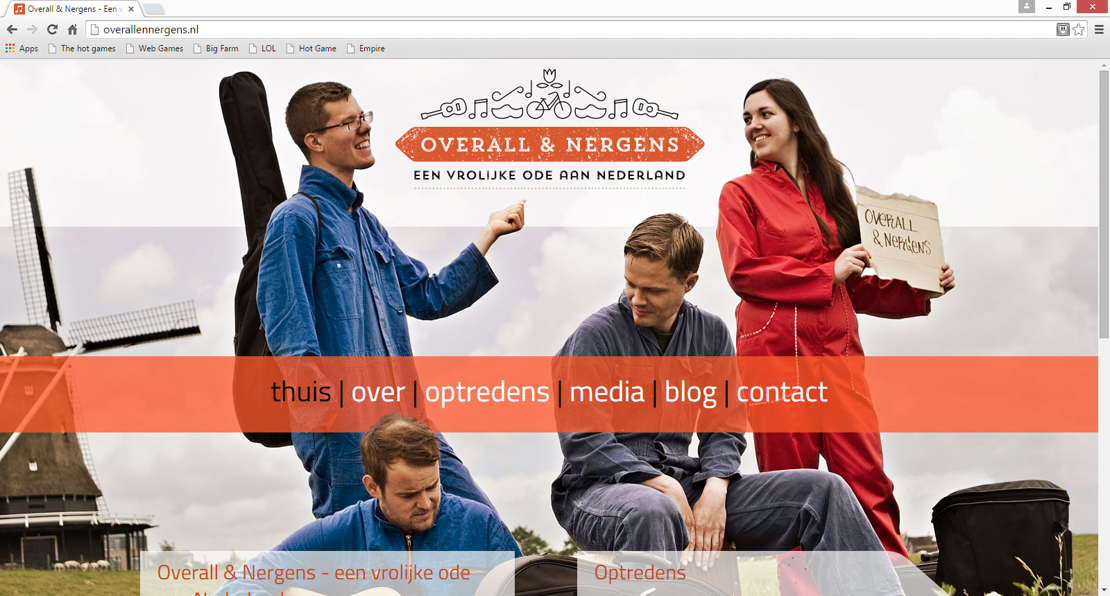Overall & Nergens website